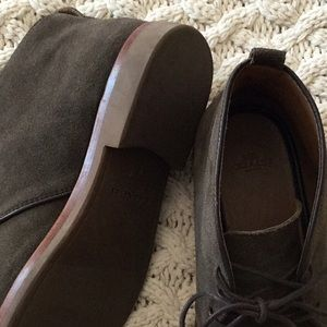 Coach olive suede chukka boots